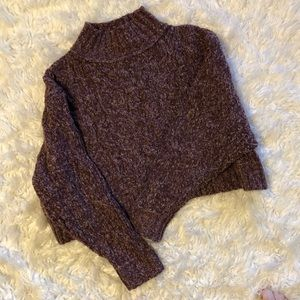 Free People Turtleneck Crop Sweater